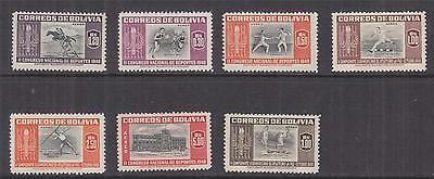 BOLIVIA, 1948 Sports, Air set of 7, lhm.