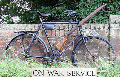 WW1 MILITARY MODEL BICYCLE with Rifle Fittings Vintage Antique Replica WWI