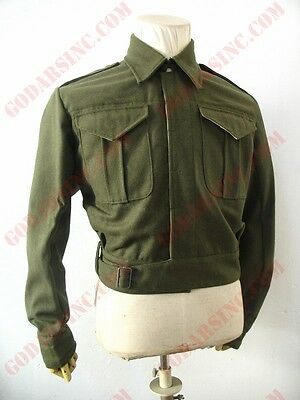 WW2 Canadian Army Infantry Khaki Green Serge Battle Dress Jacket Size XL