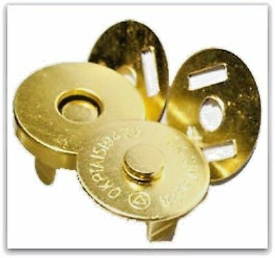 10 Set Magnetic Bag Clasps Fasteners *Small* GOLD 14mm  UK Seller + Freepost UK