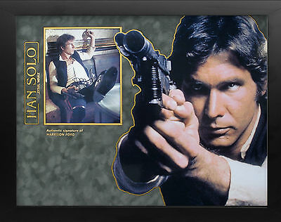 Harrison Ford Starwars Han Solo amazing 3D Framed signed Photo Display