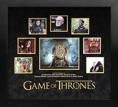 Game of Thrones Signed Cast Display