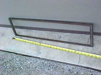 Vtg Architectural Salvage Antique Brass Industrial Building Address Panel Frame