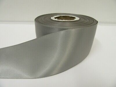 3mm 7mm 10mm 15mm 25mm 38mm 50mm DARK SILVER GREY Satin Ribbon double roll Bows