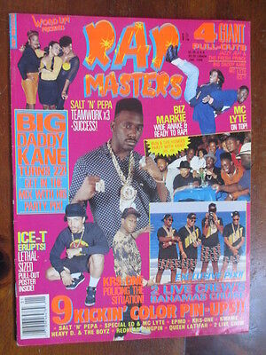 Rap Masters 1990 Poster Maga...mc Lyte~Special Ed~Queen Latifah~Ice-T~Hip Hop +