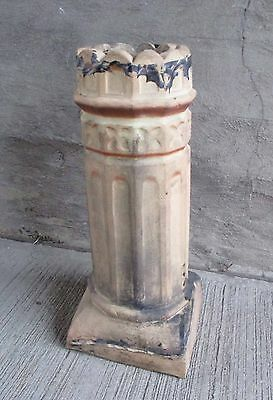 "Antique Chimney Pot  - Ornate Scalloped Top w/Fluted Sides, 29 1/2"" Tall (#1)"