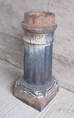 "Antique Chimney Pot - Scalloped Top 30"" Tall Fired Clay (#6)"