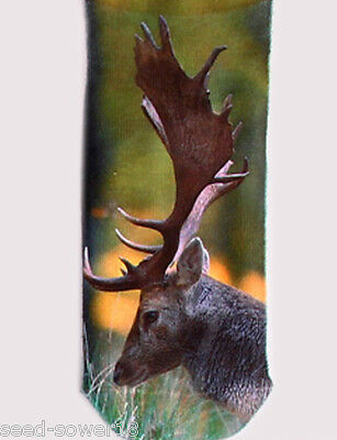 REINDEER Trainer 3D Photo SOCKS UK Size 3-7 1pair Rudolf Cotton Blend UK Stag GB