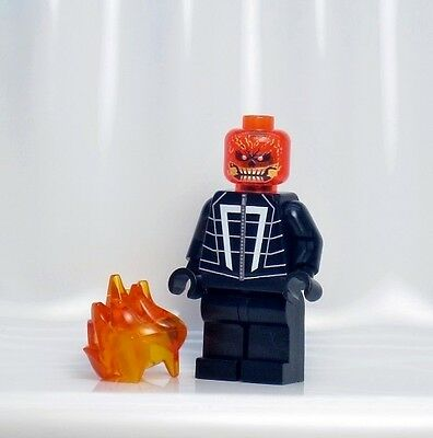 A1254 Lego CUSTOM PRINTED Agents of Shield INSPIRED GHOST RIDER MINIFIG Daisy