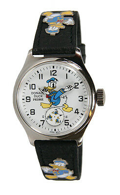 MINT Disney Donald Duck Ingersoll reproduction Leather Strap watch by Pedre