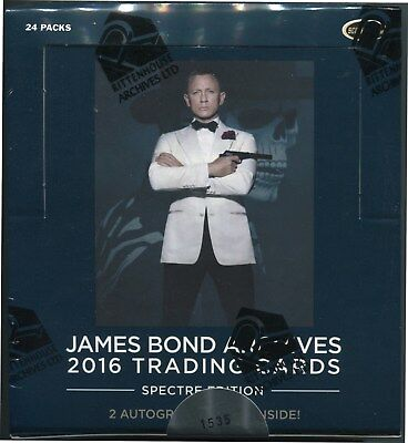 2016 James Bond Archives Spectre Edition Factory Sealed Box + P1 Promo Card