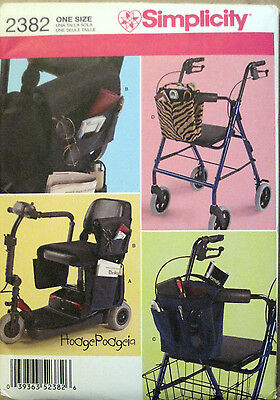 Simplicity HODGEPODGEIA Scooter Electric Wheelchair Walker Bag Pattern 2382 UC