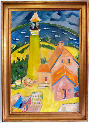 Large Lighthouse, Expressionist, 1. Half 20th Century