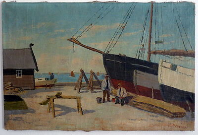 G.Svensson, Fishing Boats in the Harbour, Sweden, 1. half 20.Jh