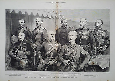 1882 Print Some Of The British Officers Commanding In Egypt