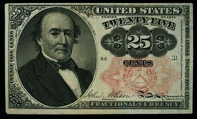 Series 1874 Twenty Five Cent 25c Fractional Note Fifth Issue  FR #1308 Long Key