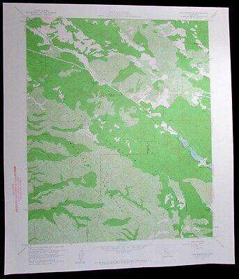 Cow Mountain Blue Lakes California vintage 1960 old USGS Topo chart