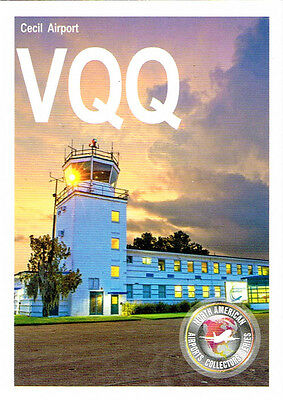 VQQ Collectible Airport Trading Card Cecil Airport Jacksonville Florida