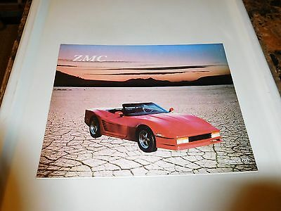 ZMC Custom Cars Official 1990's Sales Brochure - VETTEROSSA, PORSCHE 928