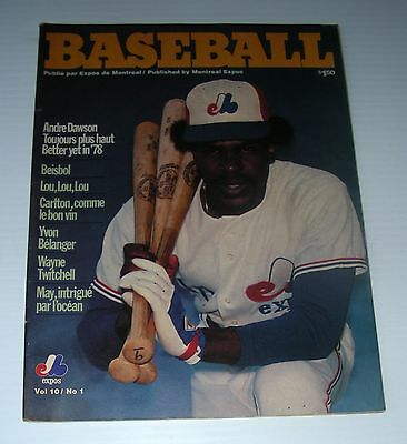 BASEBALL Vol 10 # 1 bilingual EXPOS MontreaL ANDRE DAWSON BELANGER TWITCHELL