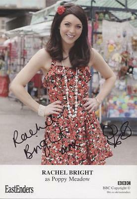 SIGNED EastEnders Rachel Bright Poppy Meadow Official Card Autographed + doodle