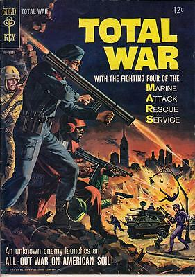 Total War #1 Gold Key 1965 Silver Age War Complete Vg