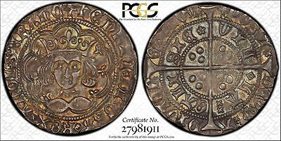 1430-31 Great Britain Groat 4 Pence AU58 PCGS S-1859 Rainbow Toned - Top Pop 1/0