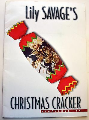 1996 LILY SAVAGE BLACKPOOL OPERA HOUSE XMAS Theatre Programme Stage Booklet