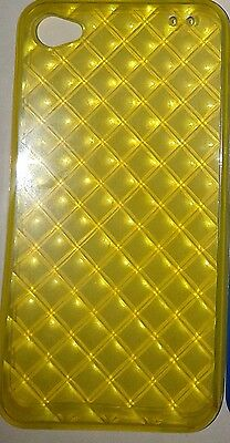 Job Lot of 50 New Gel Hex Case Skin For Apple IPhone 4g 4s yel,blu,blk,clear