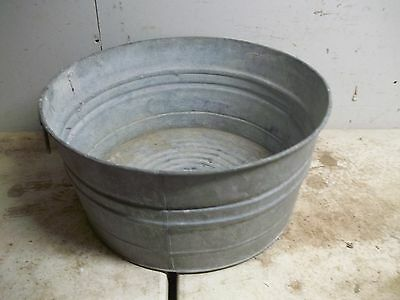 Old Metal No. 2 Laundry Wash Tub for garden planter flower pot
