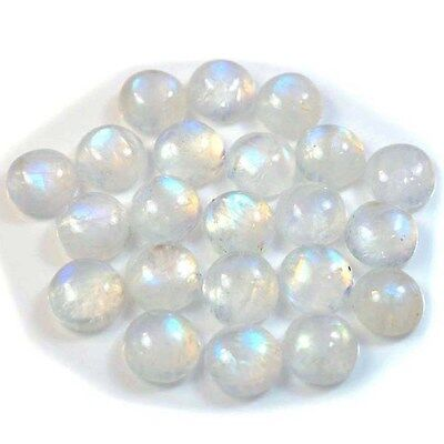 1Pc Natural Rainbow Moonstone Round (approx. 10mm) Cabochon