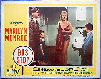 BUS STOP Lobby Card #4 Marilyn Monroe William Inge Play from 1956