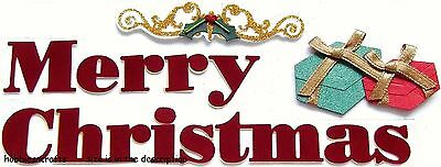 Jolee's Boutique 3-D Glitter Stickers - Xmas, Gifts Holidays - Bold Christmas