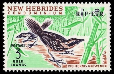 BRITISH NEW HEBRIDES 106 (SG108) - Thicket Warbler (pa81461)