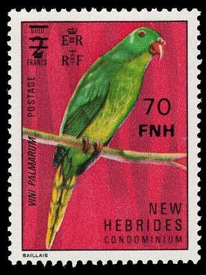 BRITISH NEW HEBRIDES 226 (SG229) - Palm Lorikeet Surcharged (pf61641)
