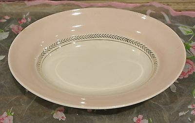 American Limoges Federal Coral Pink Candlelight Oval Serving Bowl