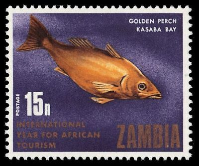 """ZAMBIA 59 (SG149) - Year of African Tourism """"Golden Perch"""" (pf95235)"""