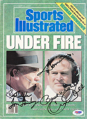 TOM LANDRY CHUCK NOLL DUAL SIGNED Sports Illustrated  PSA/DNA