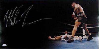 Mike Tyson Signed Boxing 24x12 Panoramic Knockout Photo PSA/DNA ITP