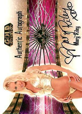 Mary Riley 2 of 30 2007 Bench Warmer Gold Autograph Auto (M overlap)