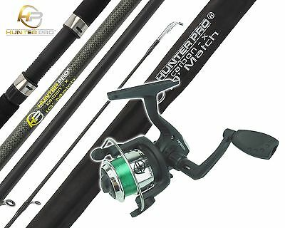 1Oft FISHING ROD & REEL WITH LINE BEGINNERS STARTERS FISHING SET KIT HUNTER PRO®
