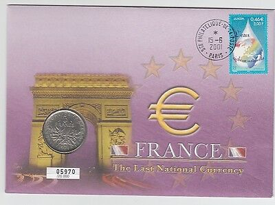 Numisbrief  Frankreich  The Last National Currency  2001
