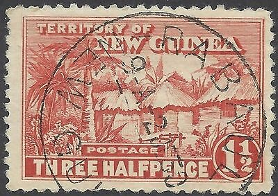 New Guinea 1925 1½d NATIVE VILLAGE (1) USED SG 126a