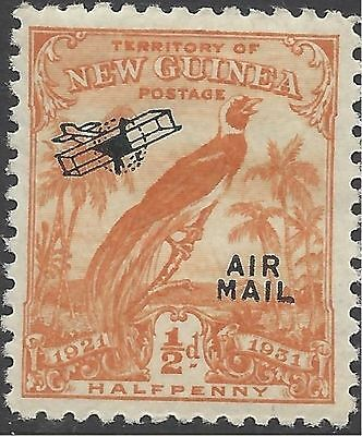 New Guinea 1931(Dated)½d BIRD OF PARADISE, AIR MAIL/Aeroplane O'print MUH SG 163