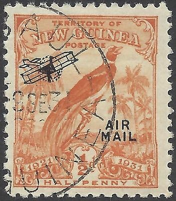 New Guinea 1931(Dated)½d BIRD OF PARADISE, AIR MAIL/Aeroplane O'print USED SG163