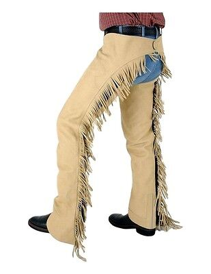 Tough-1 Western Chaps Luxury Suede Protect Show Horse Riding Cowboy 63-325