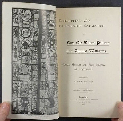 17th Century Dutch Stained Glass Panels of Canterbury Library -1899 Catalog