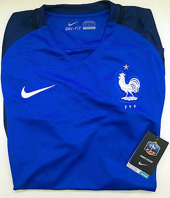 Maillot De Foot Nike Fff 2016 Taille L - Neuf Emballe