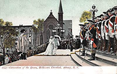 Postcard Coronation of the Queen Halloween Carnival in Albany, New York~108652