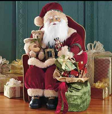 * Santa In Chair Christmas Xmas Decoration Ornament - Gift *